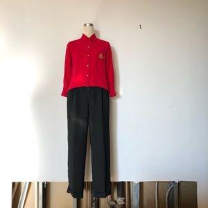 Lauren Ralph Lauren - Vintage Red Silk Button Down
